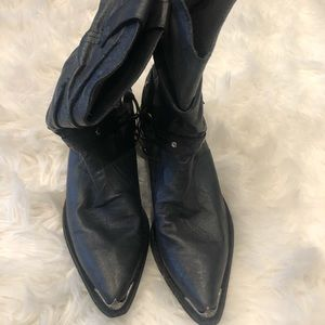 """NEW Durango """"slouch"""" Cowboy boots w/ silver accent"""